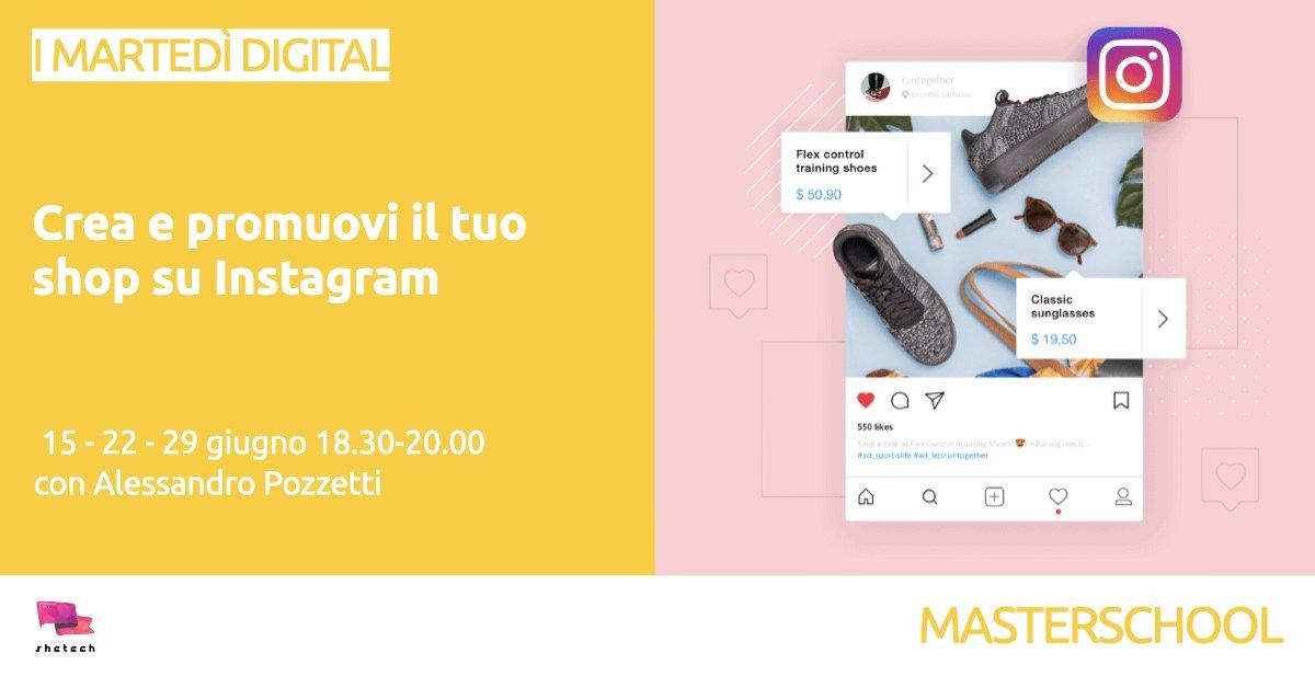 crea e promuovo il tuo shop su Instagram