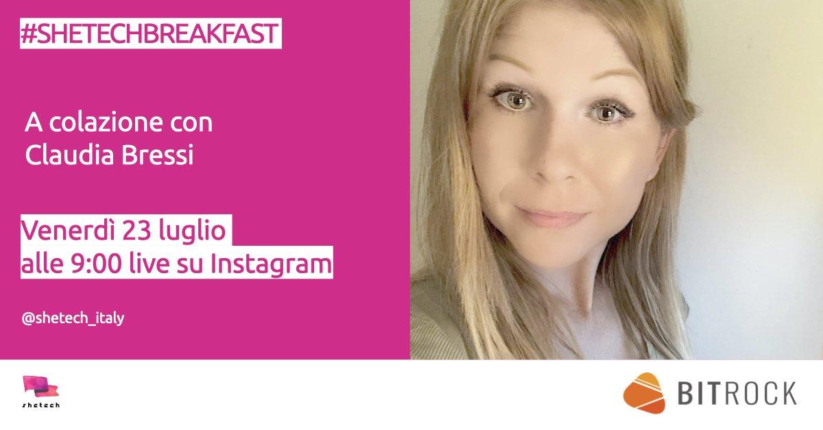 #SheTechBreakfast con Claudia Bressi - Bitrock