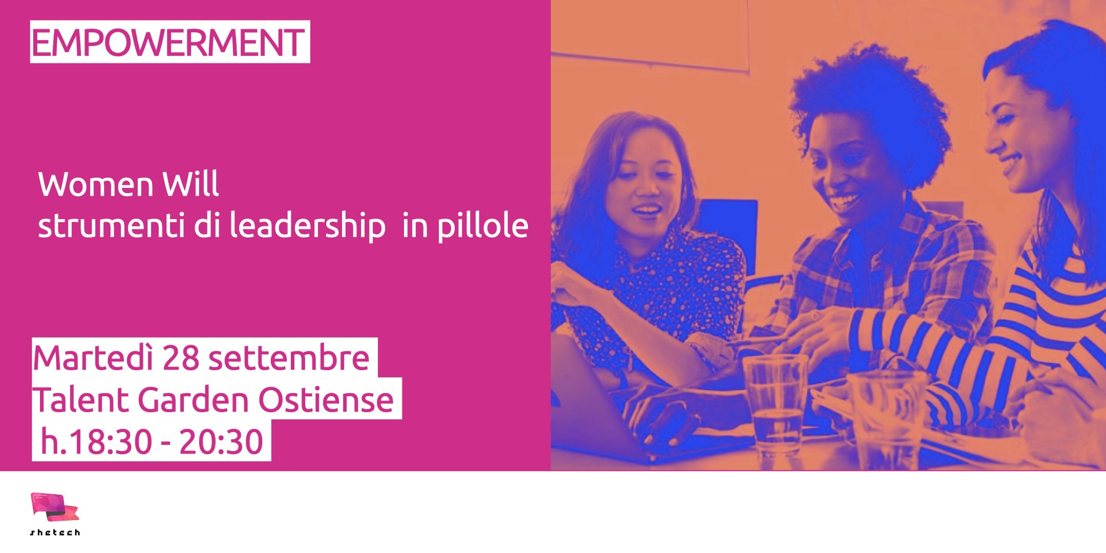 Women Will strumenti di leadership Roma SheTech
