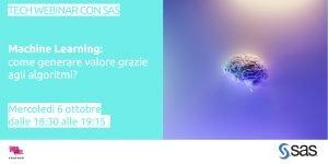 Tech Webinar con SaS - machine learning